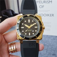 최고 품질의 명품 남성 시계 BR 03 석영 운동 디자이너 시계 생활 방수 사각 경우 세라믹 고무 밴드는 MONTRE 딜럭스