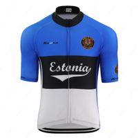 2020 여름 남성 최고 브랜드 디자인 저지 에스토니아 국가 대표팀 플래그 색상 도로 경주 자전거 의류 산악 자전거 옷을 순환 복고풍
