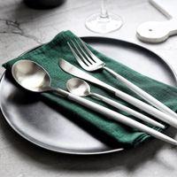 4 шт. / компл. белое золото европейский нож посуда 304 нержавеющая сталь Западный набор столовых приборов кухня еда посуда ужин