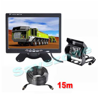 "7"" LCD Monitor Car Rear View Kit + 4Pin CCD 18 LED IR R..."