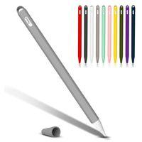 De haute qualité Tablet Touch Stylet Étui de protection Housse Etui souple Silicone Conseils Cap Sleeve Anti-Slip pour Apple Pencil 2