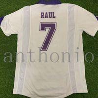 Top 1997/98 Real Madrids Jerseys de fútbol retro Vintage Classic Star Raul 7 Redondo 6 Hierro 4 R.Carlos 3 Camisetas Futbol Shirt 1999 Camisa Futebol Shirts Maillot de Pie