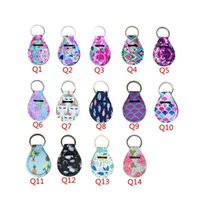 Classic Flower Pattern Keychains Creative Coin Holder Lip Pa...