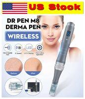 US Stock !!! 2020 sans fil électrique rechargeable récent M8-W Ultima Derma Pen Auto Dr Pen Skin Care Therapy Microneedle MTS PMU