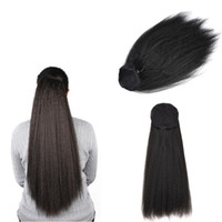 Sara Lady Women Kinky Horsetail Pull on The Rope Ponytail Cl...