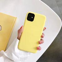 Tunt Soft Case för iPhone 11 11Pro Max 7 8Plus Originalvätska Silikonkåpa Candy Color Coque Capa för iPhone 11Pro X XS XR Max