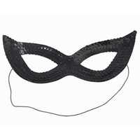 New Black Sequin Sexy Cat Woman Eye Mask Fancy Dress for Mas...