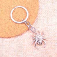 28 * 25mm örümcek arachnic KeyChain, Yeni Moda El Yapımı Metal Anahtarlık Parti Hediye Dropship Mücevher