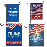 2020 États-Unis Trump chef général Drapeau Élection 30x45cm Faire Amérique Grand A nouveau polyester Drapeaux Support de fibre Bannière Accueil Hot Vente 4MH B2