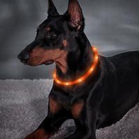 LED طوق الكلب، قابلة للشحن USB، متوهجة كلب طوق للسلامة ليلة، الضوء الأزياء متابعة الياقة لمتوسط الصغيرة الكلاب الكبيرة