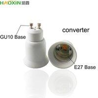 HaoXin Led Lamp Base Converter GU10 E27 E14 MR16 Screw Light Bulb Holder Adapter Socket Plug Extender PBT Plastic Safty Fast Ship