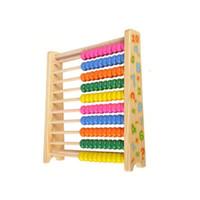 Çocukların bebek 3 yaşında okul öncesi eğitim oyuncakları montessori oyuncak anaokulu erken EDUCATIO için Ahşap matematik oyuncakları abaküs