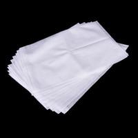 50pcs 23 * 30 centímetros reutilizável sacos não tecidos tecido de malha Strain Juice Tea Pulp Jelly Alimentos Nut Leite Screen Filter Net Percolator Bag