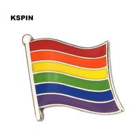 Rainbow Flag Lapel Pin Flag Badge Lapel Pins Badges Brooch XY0323