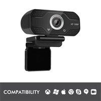 Веб-камера 1080P HDWeb камера со встроенным HD микрофон 1920 x 1080P USB Plug n Play Web CAM широкоэкранное видео оптом