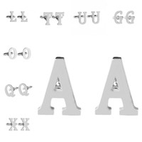 A- Z 26 English Letter Cufflinks French Shirt Cuff Button Lin...