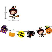 Bandeiras de Halloween Bandeiras Festa Decorações Pendurado Suprimentos Bruxa Pirata Abóbora Skull Donja Bandeira Festa de Pendurar Decorações JK1909KD