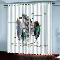 2020 Blackout cortina de la ventana Cortina de plumas para sala de estar dormitorio cortina cortinas de encargo cualquier tamaño
