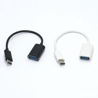 16CM نوع C-OTG كابل محول USB 3.1 نوع C ذكر لUSB 3.0 والحبل محول أنثى OTG البيانات