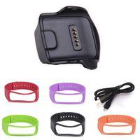 Dişli uyum R350 Band Samsung Gear Fit R350 Kayış + USB Kablosu Şarj Bilezik Değiştirme Bileklik İzle Bantlar