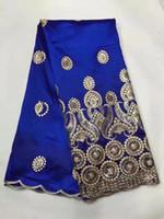 Multi Color African George Spitze-Gewebe mit Pailletten Spitze Nigerian George Wrapper-Qualitäts-afrikanische Gewebe für Kleid 5YD