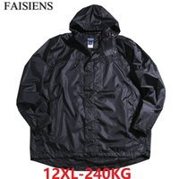 Men Plus Size Big 8XL 9XL 10XL Out Door Jackets Hooded Winte...