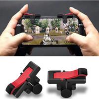 2 adet / takım Pubg Moible Controller Gamepad Ücretsiz Yangın L1 R1 Tetik Pugb Mobil Oyun Pedi Kavrama L1R1 Joystick iPhone Android Telefon için