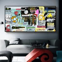 1 Panel Wall Art Painting Canvas Print Graffiti Figure Pictu...