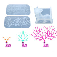 Reindeer Horn Clear Silicone Mold Forest Animal Mold DIY Jew...