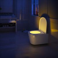 LED Motion Sensor Toilet Night Light 7 Colori Changeable Human Human Induzione Lampada notturna Bagno impermeabile Lampada notturno