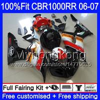 Injection Body +Tank For HONDA CBR1000 RR CBR 1000 RR 2006 2007 276HM.31 CBR 1000RR 06-07 CBR1000RR 06 07 OEM Fairings hot sale black kit