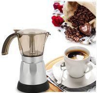 6cups / 300ml cafetera eléctrica de aluminio material de café Ollas Moka Pot Mocha café de la máquina v60 Filtro de café Cafetera exprés