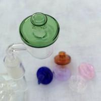 Verre UFO Carb Caps Dôme Diamètre 35 mm Accessoires pour Fumer Hauts colorés Chapeau Style Quartz Banger Enails Verre à eau Pipes Bong fumeurs