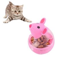 Cat Food Food Toys Pet Feeder Giocattolo Cat Mice Forma Tumbler Food Rolling Perdita Dispenser Bowl IQ Trattamento Balla Smart Pets Toy 2 Colori Scegli