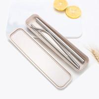 2020 Top Fashion 4 pezzi riutilizzabili Cannuccia di alta qualità 304 del metallo dell'acciaio inossidabile di paglia con la spazzola di pulizia per le tazze da cucina Accessori