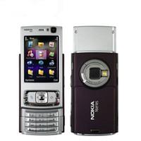 نوكيا الأصلية N95 2.8 بوصة شاشة 5.0MP كاميرا الجيل الثالث 3G WIFI GPS بلوتوث تجديد الهاتف