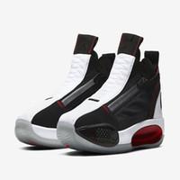 AJ 34 SE 모든 스타 블랙 레드 화이트 아이 농구 신발 최고의 점프 맨 XXXIV 34S 남성 트레이너 신발 상자 가게 크기 4-12