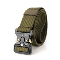 Homens da moda Cinto Tático Cintos de Nylon Militar Cinto de Metal com Fivela De Metal Ajustável Pesado Treinamento Cinto de Caça Cinto Acessórios