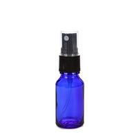 Épaisseur de 15ml 1 / 2Oz d'atomiseur à brume fine bleue de cobalt en verre bouteille vaporisateur vaporisateur de bouteille vide de parfum rechargeable pour huile essentielle d'Aromathérapie