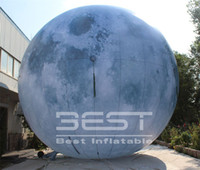 3 متر / 6 متر نفخ القمر العملاق القمر بالون الصمام نفخ الأقمار الصناعية الإضاءة تضخم القمر مع الصمام الخفيفة للحزب نادي الأحداث تصميم المرحلة