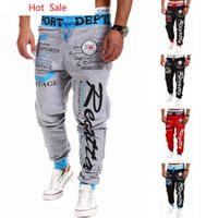 Wholesale- Hot Sale 2016 Fashion Style Mens Gym Joggers Sweat...