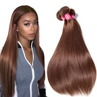 Peruvian Straight virgin hair #4 Straight Human hair 3 4 bun...