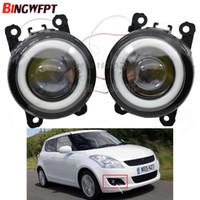 2pcs / paire (Gauche + Droite) Angel Eye lampes de brouillard auto-styling Feux à LED pour Suzuki Grand Vitara 2 JIMNY FJ IGNIS II SWIFT SPLASH ALTO 1998-2015