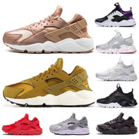 Air Huarache Ultra 1.0 4.0 Homens Running Shoes Red Stripe Balck White Rose Mulher do ouro Designer Shoes Esporte Sneakers 5,5-11