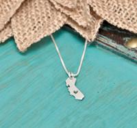 30 очертания родного города калифорнийское ожерелье с любовью в форме сердца калифорнийское ожерелье сша калифорнийская карта подвеска ожерелье с ювелирным сердцем