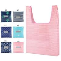 Lebensmitteltaschen Einkaufstaschen wiederverwendbare Einkaufstragetasche große Kapazitäts-Handtaschen Folding-Speicher-Beutel-Punkt-Sterne Fest 19 Farben WZW-YW3207