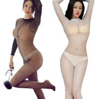 Yaz Bayanlar Egzotik Açık Dişli Sleepwear sayesinde Kadınlar Sexy Lingerie Teddies Tayt Şeffaf Bodystocking Yetişkin Babydoll bakın