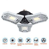 Luz de garaje LED 60W E27 6000LM Iluminación de techo deformable Lámparas de minería ultra brillante Lámpara de almacén con 3 paneles ajustables