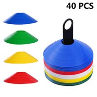 40 Piece Set Soccer Cones Disc Field Cone Markers For Agilit...