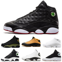 Herren Basketball-Schuhe Jumpman 13 Gezüchtet Schwarz True Red Moon Particle Graduation Class of 2002 Rabatt Sportschuh Damen 13s Black Cat